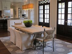 Kitchen table; Tracy Hardenburg Designs. - GORGEOUS doors