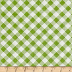 Riley Blake Sew Cherry 2 Gingham Green from @fabricdotcom  Designed by Lori Holt for Riley Blake, this cotton print fabric features a classic gingham design and is perfect for quilting, apparel and home decor accents. Colors include white and shades of green.