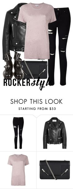 """""""Untitled #2813"""" by elenaday ❤ liked on Polyvore featuring Miss Selfridge, Acne Studios, IRO, Yves Saint Laurent, Balenciaga, rockerchic and rockerstyle"""