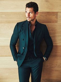 HQ Editorial - David Gandy for Esquire Latinoamerica November 2015 Photo by John Russo Outfit por Dolce & Gabbana Location: Miami Thanks Mat! Mens Fashion Suits, Mens Suits, David Gandy Style, David Gandy Suit, Style Masculin, Designer Suits For Men, Herren Outfit, Gentleman Style, Mens Clothing Styles