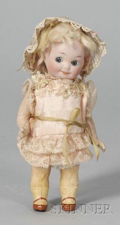 "Armand Marseille ""Nobbi Kid"" Bisque Googlie Doll | Sale Number 2355, Lot Number 659 | Skinner Auctioneers"