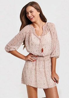 Elle Chiffon Dress.  Wear this over a cute pair of dark jeans and some boots. Perfect.
