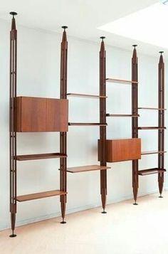 Libreria Infinito, Franco Albini, Cassina, made in Italy.
