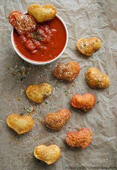 Fried Ravioli Hearts   InSearchOfYummyness.com   #Recipes4Romance #Olivieri