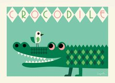 croc New Poster By Ingela P Arrhenius
