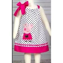 """""""Best Images about Peppa Pig Birthday Party"""", """"NEW Super Cute Posh Peppa Pig applique von LilBitofWhimsyC Toddler Dress, Baby Dress, Toddler Girl, Dot Dress, Fashion Kids, Casual Dress Outfits, Kids Outfits, Peppa Pig Dress, Baby Frocks Designs"""