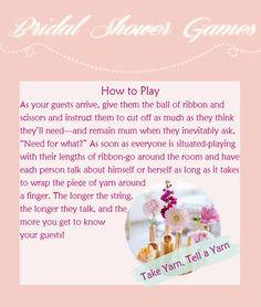 unique bridal shower games take yarn tell a yarn