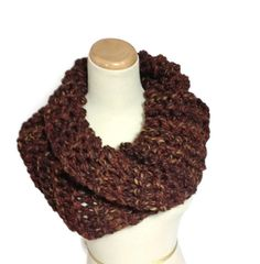 Ready to Ship Chunky Cowl Chocolate Cowl by ArlenesBoutique