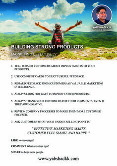 Learn to build strong products and market effectively, visit