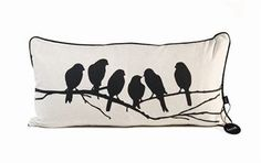 Decorate your home with this stylish Lovebirds cushion from the Danish company Ferm Living. Made of high quality cotton/linen and filled with down makes it nice and soft. Matching wall decoration also available.