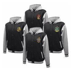 Hogwarts House Fully Custom Quidditch Varsity Jacket Hoodie ❤ liked on Polyvore featuring jackets
