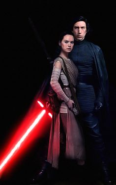 I love Rey, I love Kylo, but not together! But this picture makes them look good together.
