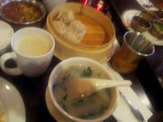 Steamed beef momo (Tibetan for steamed dumplings) and Himalayan soup and a soothing cup of butter tea.  Definitely coming back in Jan/Feb for yak momo. Himalayan Yak Restaurant in Jackson Heights, NYC: eat Himalayan food while watching cool documentaries on Tibetan life and culture ranging from salt expeditions, pilgrimages to Lhasa, and harvest festivals.