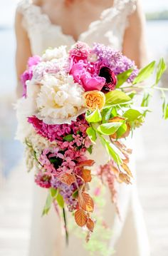 pastel pink and purple bridal bouquet