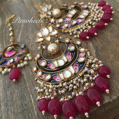 India Jewelry, Ethnic Jewelry, Jewelry Sets, Indian Jewellery Design, Jewelry Design, Indian Accessories, Jewelry Accessories, Pakistani Jewelry, Jewelry Patterns