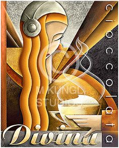 Michael Kungl Art ~ Capri Coffee ~ Art Decó