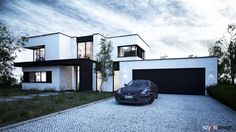 House in Pruszkow, Poland by Wojciech Szyp, via Behance