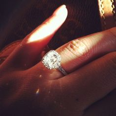 """Daussi H20 Cushion Cut Halo. Now this is an """"I love you forever ring"""""""
