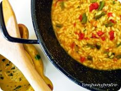 Con pan y postre: Risotto vegetal en perol con toque andaluz