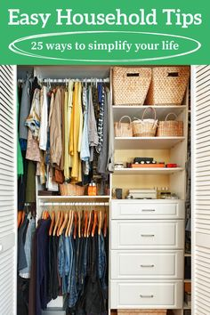 Get over 25 useful household tips that you may have never thought of! These are incredibly useful and practical, and will save you time and effort! Get ideas for the kitchen, bedroom, bathroom, and more.
