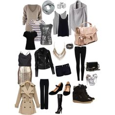 packing for a winter mini break by maureenchang on Polyvore