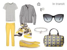 The Vivienne Files: All-purpose weekend packing --//-- gray and yellow, hello!