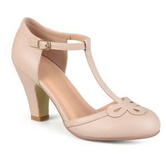d8ea19401a906a Women s Journee Collection Parley T-Strap Round Toe Mary Jane Pumps - Nude  11