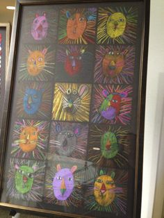 1st Grade artwork for  our annual Silent Auction
