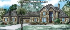 Gorgeous European style design - House Plan #01051 Whispering Cove