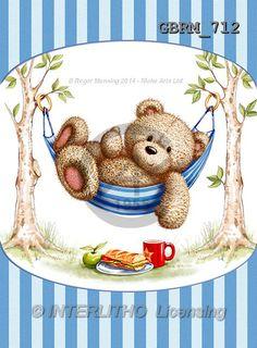 Teddy Bear Images, Teddy Bear Cartoon, Cute Teddy Bears, Happy Birthday Teacher, Urso Bear, Baby Illustration, Baby Painting, Bear Decor, Cute Paintings
