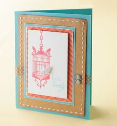 Stamped birdcage card using the My Acrylix® Hello Tweety stamp set. #CTMH