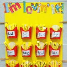 First Grade Reading Corner Ideas | Elementary Interactive Word Wall Bulletin Board Idea