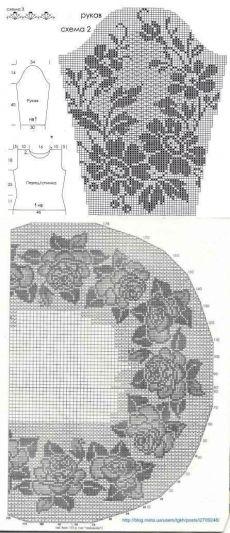филейное вязание | VALENTINA CERGUTSA | Идеи и фотоинструкции бесплатно на Постиле Crochet Blouse, Irish Crochet, Crochet Clothes, Kids Rugs, Blouses, Decor, Vestidos, Decoration, Kid Friendly Rugs