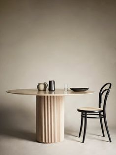 Palais Royal Dining Table - White Stained Oak Base and Top Table Furniture, Furniture Design, Vintage Furniture, Oak Panels, Deco Table, Round Dining Table, Wood Cabinets, Dining Room Design, Luxury Interior