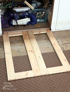 creating open frame cabinet doors