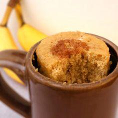 Microwave Mug Banana Bread | AllFreeCasseroleRecipes.com