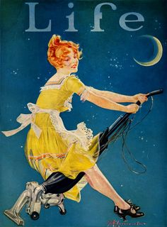 Life magazine cover. So California: Vintage Magazine Covers Riding her vacuum!!! TG