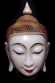 Burmese buddha head (alabaster)