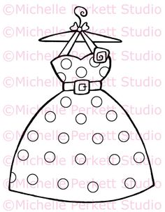 Digital Stamp Image Dress Vintage Cardmaking Scrapbooking Stamping
