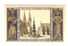 Germany Notgeld Braunschweiger 1921 1923 50 Pfennig circulated