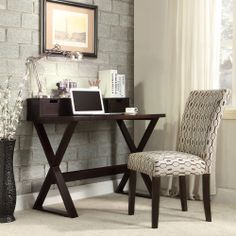 Bedford X-base Espresso Writing Desk and Hutch | Overstock.com Shopping - The Best Deals on Desks