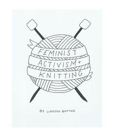 Pretty much every day!! DIGITAL DOWNLOAD Feminist Activism Knitting Zine by LunaMothShop