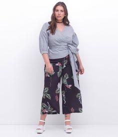 e296d78f0 Calça Pantacourt Floral Curve & Plus Size - Lojas Renner
