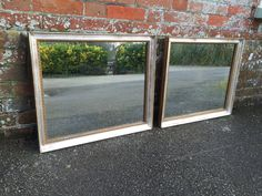 A Very useful pair of Antique 19th Century French silver & gilt Mirrors. (ref. 2215).