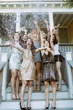 Glitter & bridesmaids