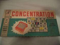 VINTAGE 1960'S JOHN SANDS CONCENTRATION MEMORY BOARD SCROLL GAME #MiltonBradley