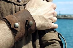 Which Way To The Beach Brown Leather Wrap Cuff With Arrows. $29.00, via Etsy.