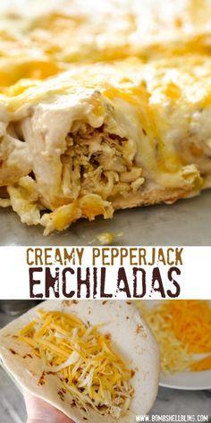 Creamy Pepperjack Enchiladas by Bombshell Bling