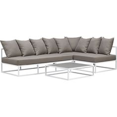 casbah outdoor sectional  | CB2 Change cushions.
