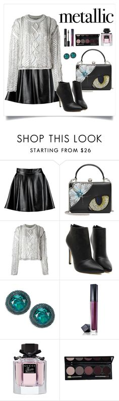 """Untitled #90"" by starshineb ❤ liked on Polyvore featuring Boohoo, Alexander McQueen, Filles à papa, Kate Spade, Estée Lauder, Gucci and LORAC"